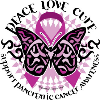 Pancreatic Cancer Butterfly Tribal 2