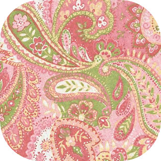 Baby Pink and Green Paisley