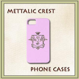 METALLIC CREST IPHONE CASE