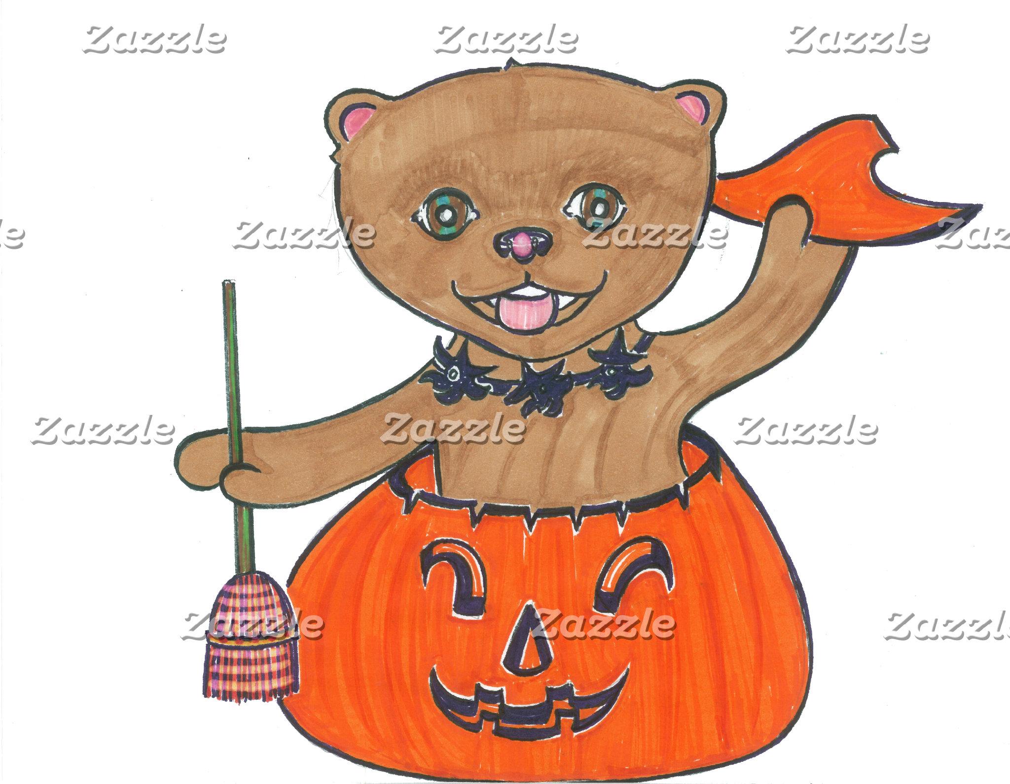 Boo! Pomeranian Pop Up Halloween