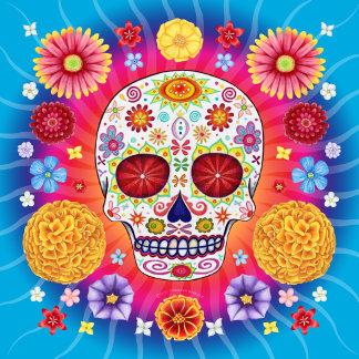 Sugar Skull Starburst w/Flowers