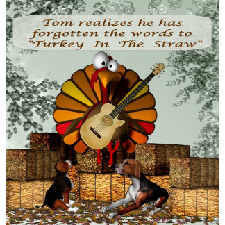 Cartoon Turkey Forgot Words with background