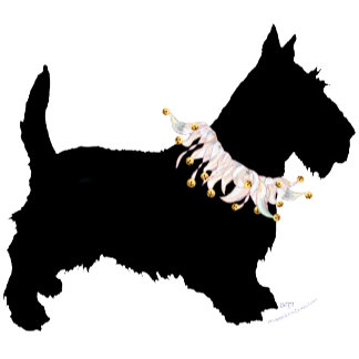 Party Scotties in Silhouette