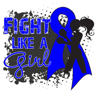 Rectal Cancer Fight Like A Girl Grunge