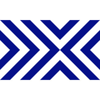 Blue and White Chevrons