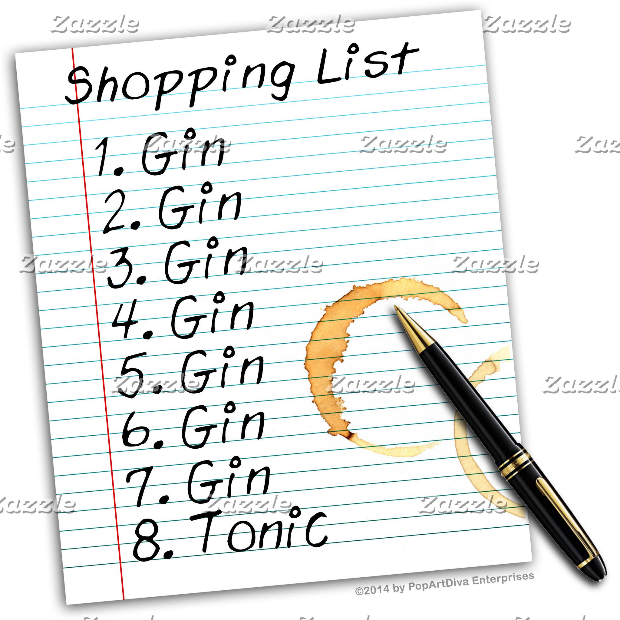 as3 GIN Shopping List