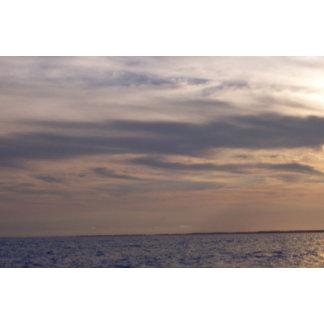 Sky at Dusk Over the Ocean