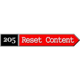 205 - Reset Content