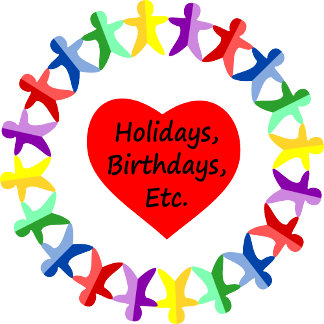 Holidays and Birthday Themed Designs and Cards