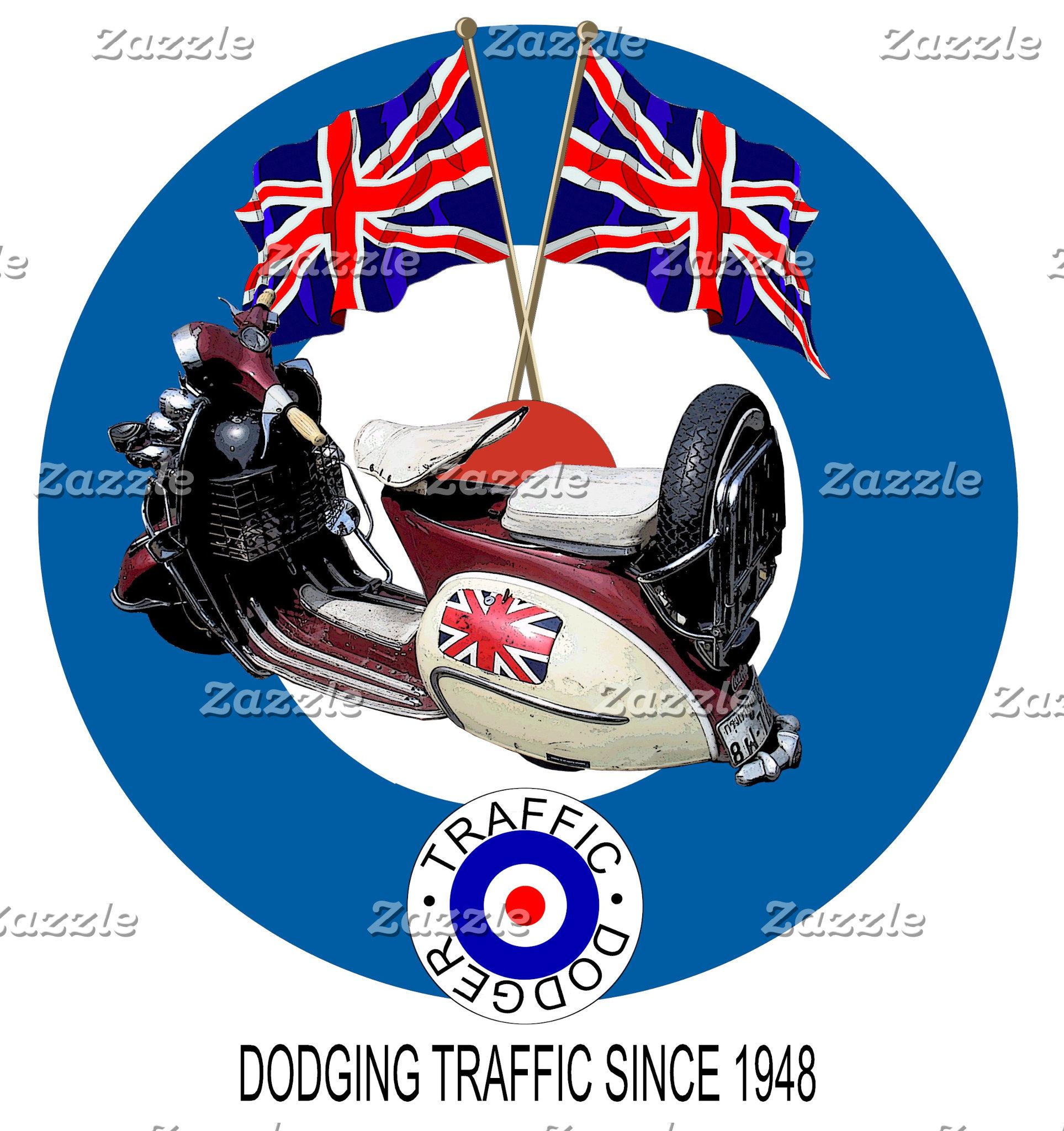 UK United Kingdom Vintage Scooters