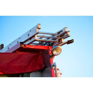 fire truck ladder close up