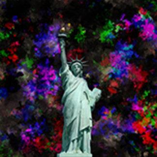 Mixed Media Statue of Liberty