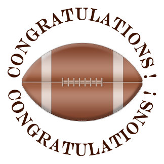 Football Congratulations
