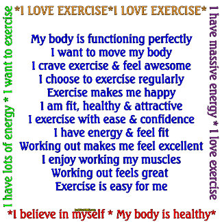 Positive Exercise Affirmation