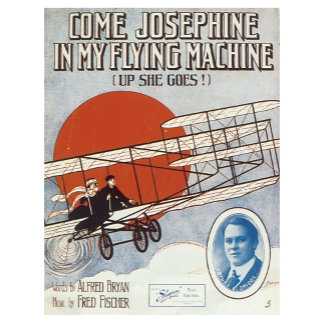 My Flying Machine - Vintage Song Sheet Music Art