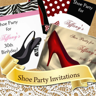 Shoe Party Invitations