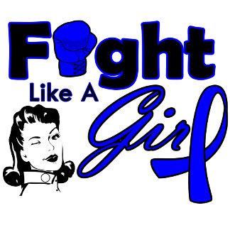 Colon Cancer Fight Like A Girl - Retro Girl