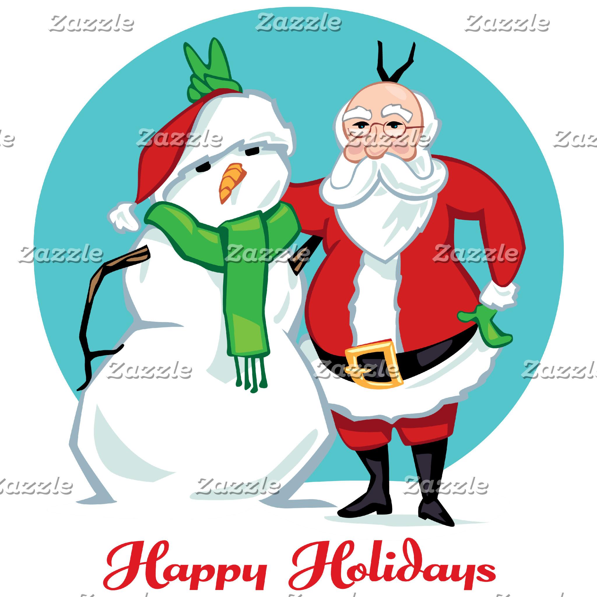 Santa Snowman Photo