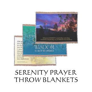 Serenity Prayer Throw Blankets