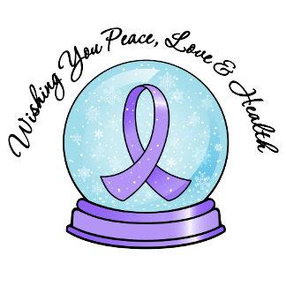 General Cancer Ribbon Merry Christmas Snowglobe