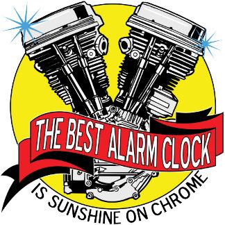 Biker Alarm Clock