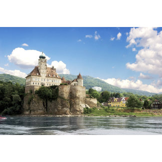 The stunning Schonbuhel Castle sits above the