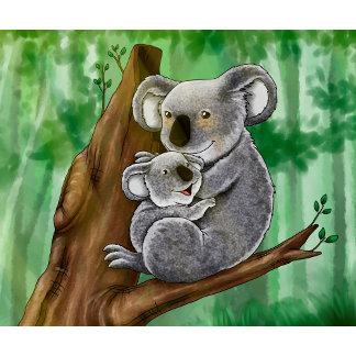 Cute Koala and baby