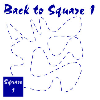 Back to square one! Funny saying t-shirts & gifts.