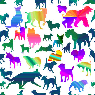 Colorful Shadow Dogs