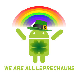 We Are All Leprechauns (Android Bugdroid Rainbow)
