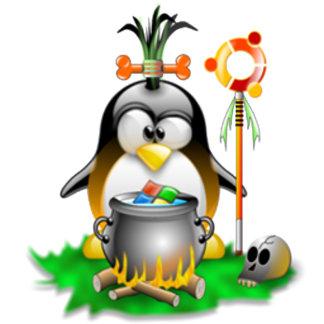 Tribal Ubuntu Tux