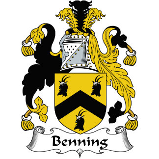 Benning Family Crest / Coat of Arms