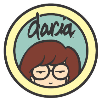 Daria Circle Logo Aqua/Yellow
