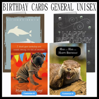 Birthday Cards General Unisex