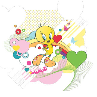 Tweety Hearts And Butterflies