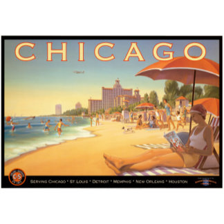 Vintage Chicago Travel Art