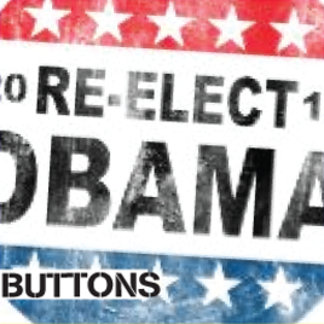 Obama 2012 Buttons