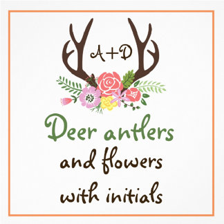 Antlers and wild flowers