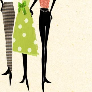 """Fashion Ladies Poster Print"""