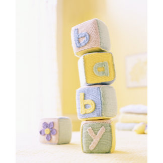 """""""knitted baby blocks poster print"""""""