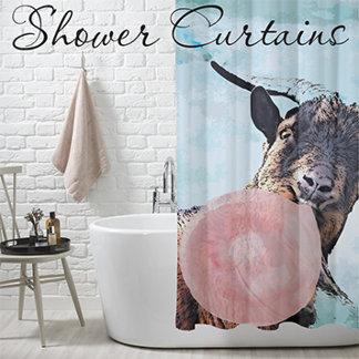Goat Shower Curtains