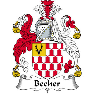 Becher Family Crest / Coat of Arms