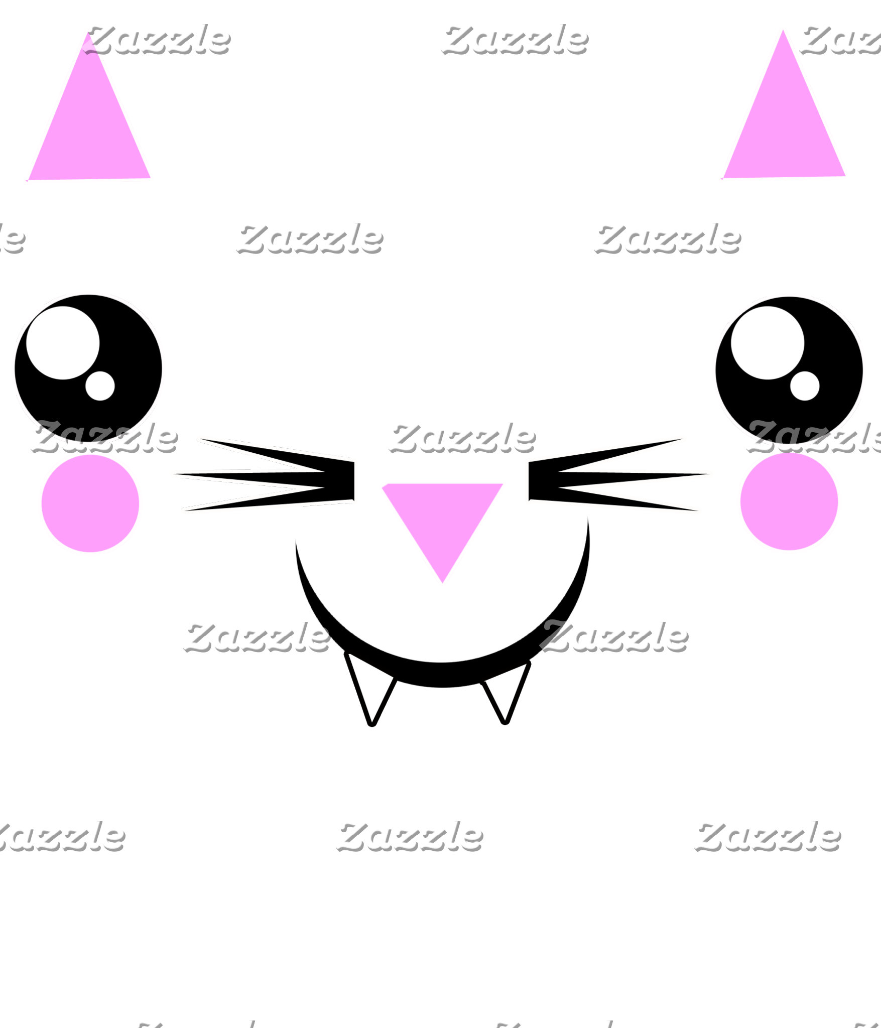 cute Kawaii Kitty face t-shirts & more