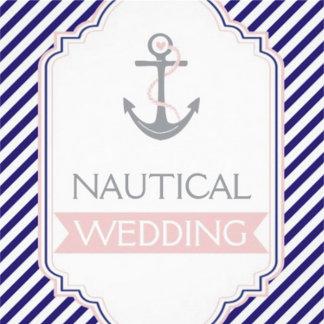 Nautical striped wedding