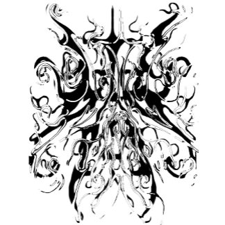 Tribal Chaos Tattoo Black and White Distortion