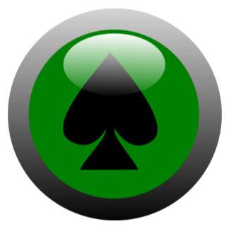 Poker Button - Spade