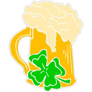 Irish Beer and Shamrock