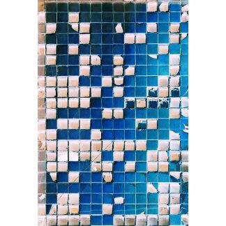 Broken Glass Block Squares Texture blue white