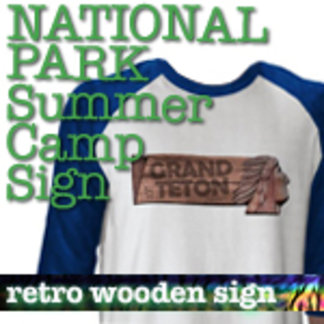 Summer Camp Sign National Park T-Shirts