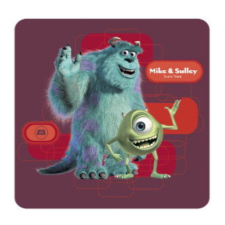 Mike & Sulley Waving